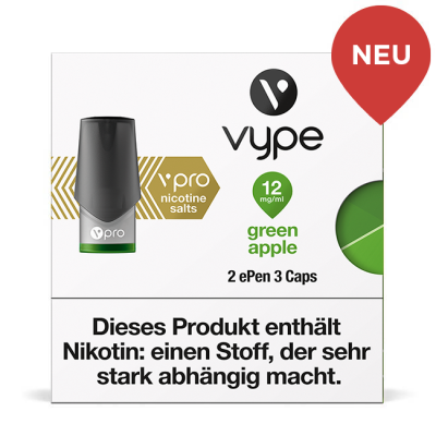 Vype ePen3 Caps Green Apple