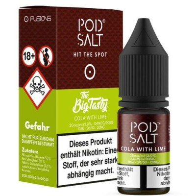 Pod Salt - Cola with Lime (The Big Tasty) - Nikotinsalz E-Liquid (10 ml)