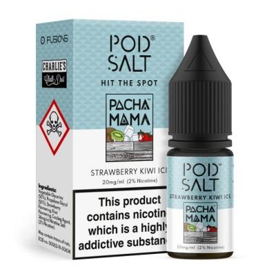 Pod Salt - Strwaberry Kiwi Ice (Pacha Mama) - Nikotinsalz E-Liquid (10 ml)