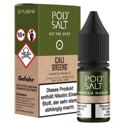 Pod Salt - Amnesia Mango (Cali Greens) - Nikotinsalz E-Liquid (10 ml)