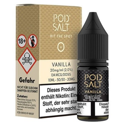 Pod Salt - Vanilla - Nikotinsalz E-Liquid (10 ml)