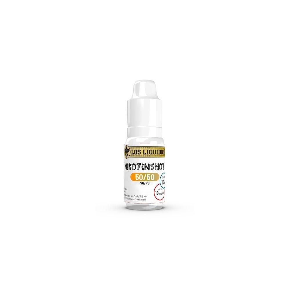Los Liquidos Nikotin Shot 50/50 - 18 mg/ml (10 ml)