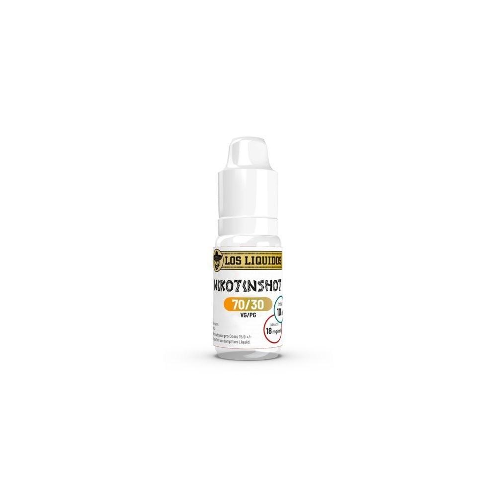100 x Los Liquidos Nikotin Shot 70/30 - 18 mg/ml (10 ml)