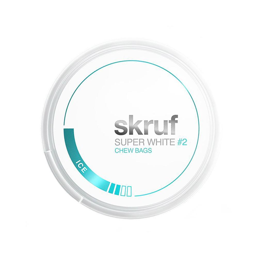 skruf Kautabak – SUPER WHITE 2 ICE