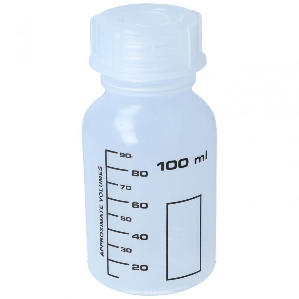 Weithalsflasche, PP, rund, graduiert (100 ml)