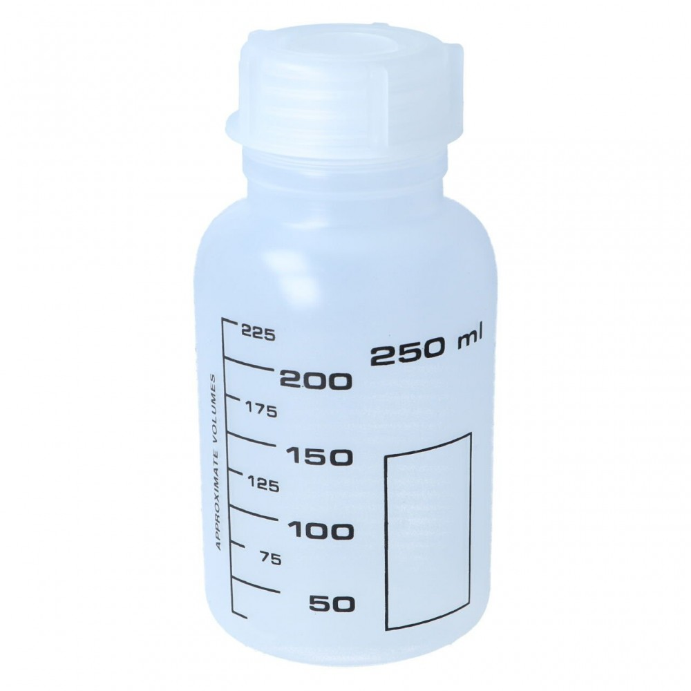Weithalsflasche, PP, rund, graduiert (250 ml)