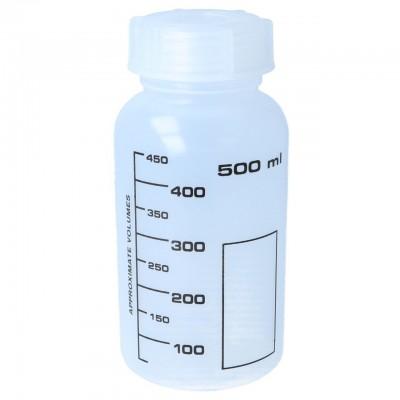 Weithalsflasche, PP, rund, graduiert (500 ml)