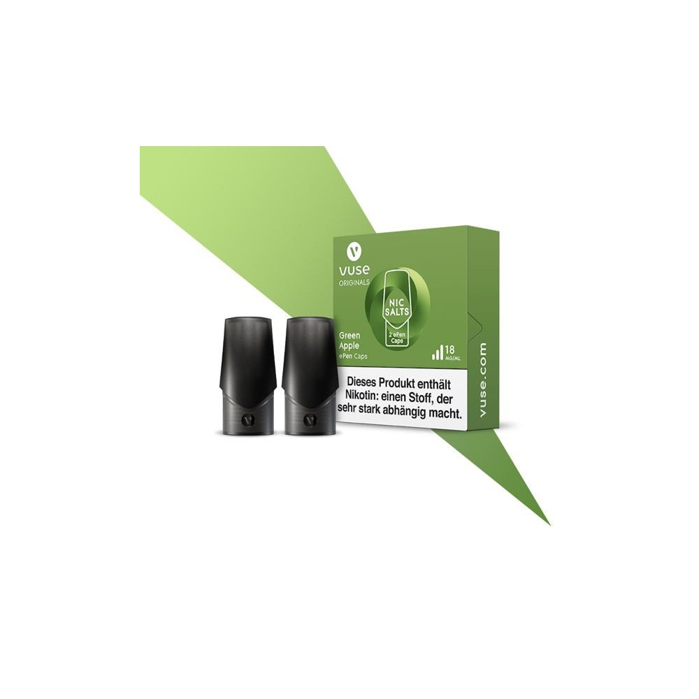 Vuse ePen Caps Green Apple