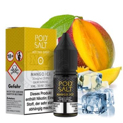 Pod Salt - Mango Ice - Nikotinsalz E-Liquid (10 ml)