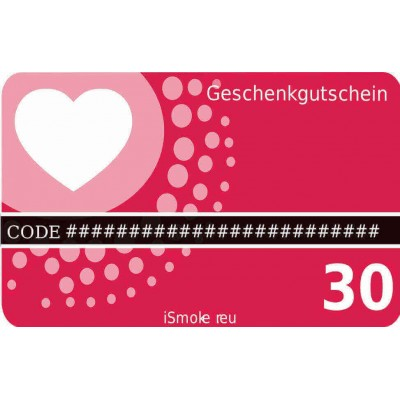 30,- Euro iSmoker Geschenkgutschein