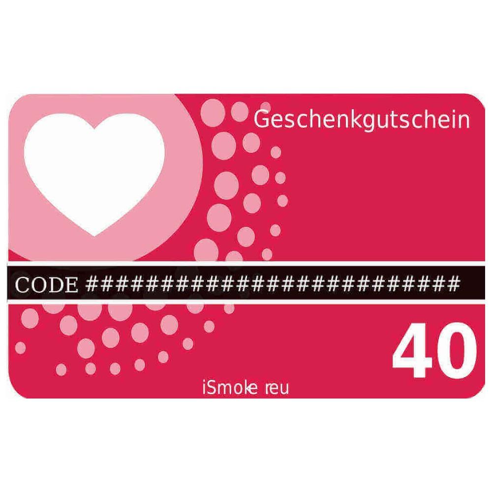 40,- Euro iSmoker Geschenkgutschein