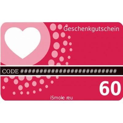 iSmoker Geschenkgutschein 60,- Euro