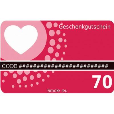 iSmoker Geschenkgutschein 70,- Euro
