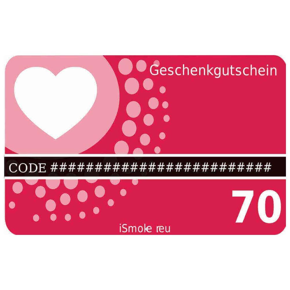 70,- Euro iSmoker Geschenkgutschein
