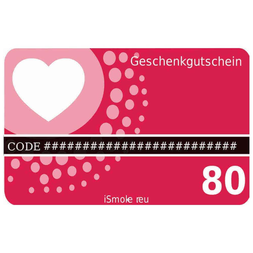 80,- Euro iSmoker Geschenkgutschein
