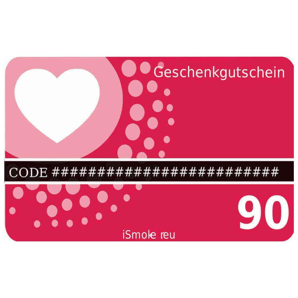 90,- Euro iSmoker Geschenkgutschein