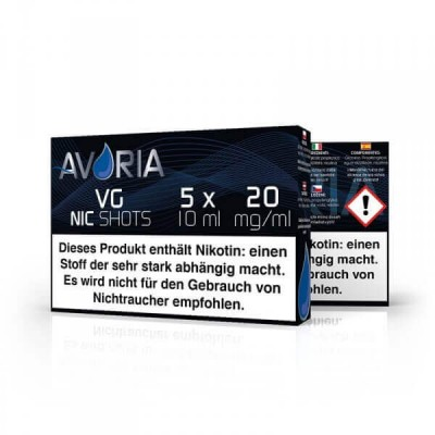 Avoria Nikotin-Shot VG 5 x 10 ml (20 mg/ml)