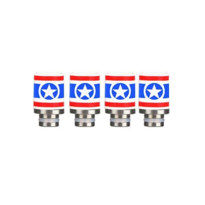 Captain America Drip Tip Ceramic + SS