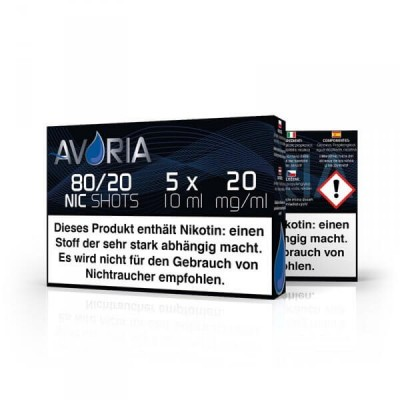Avoria Nikotin-Shot Velvet 80/20 5 x 10 ml (20 mg/ml)