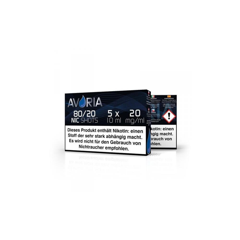 Avoria Nikotin-Shot Velvet 80/20 5 x 10 ml (20 mg/ml)