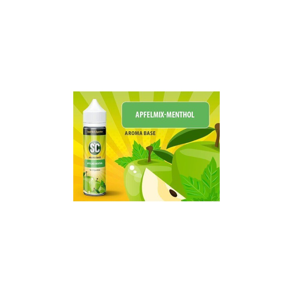 SC Vape Base - Apfelmix-Menthol Liquid (50 ml)