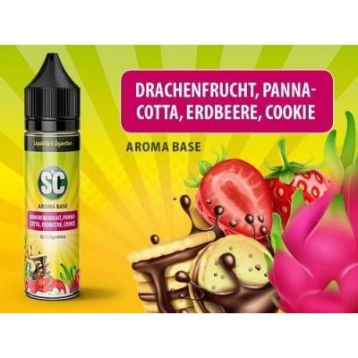 SC Vape Base - Drachenfrucht, Pannacotta, Erdbeere, Cookie