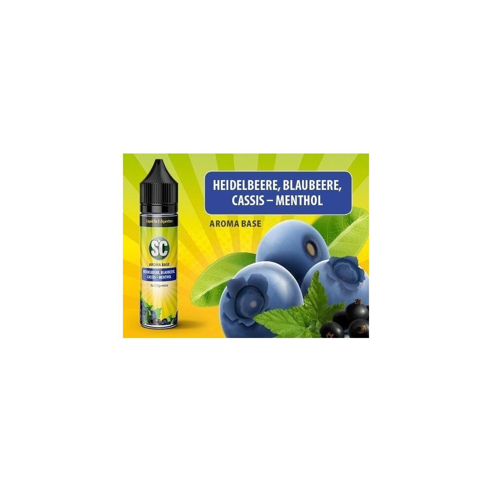 SC Vape Base - Heidelbeere, Blaubeere, Cassis-Menthol Liquid