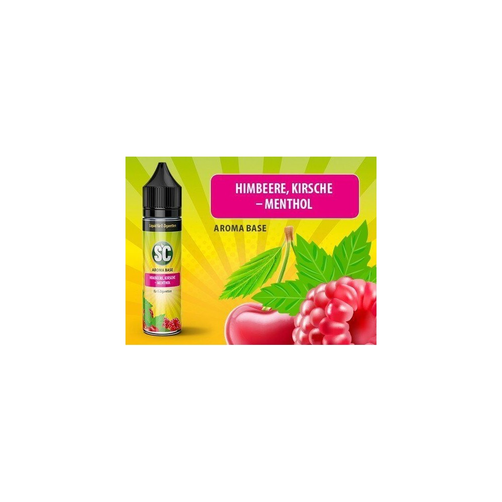 SC Vape Base - Himbeere, Kirsche-Menthol Liquid (50 ml)
