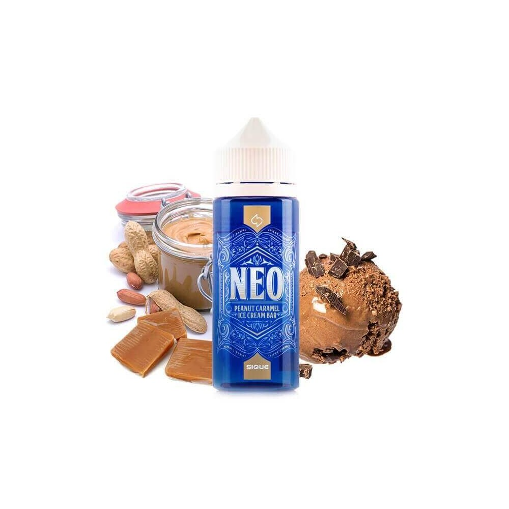 SIQUE Berlin - Neo 100 ml Shortfill (Erdnuss-Karamell-Eiscreme)