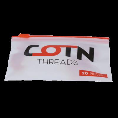 COTN Threads - 20 Wattestränge für 3,0 mm (mit Einfädelhilfe)