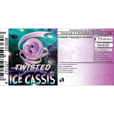 Twisted Vaping - Ice Cassis Aroma (10 ml)