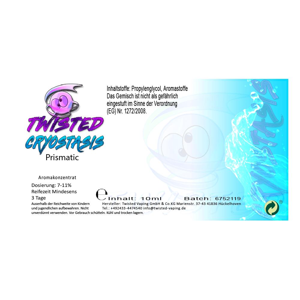 Twisted Vaping - Cryostasis Aroma Prismatic (10 ml)