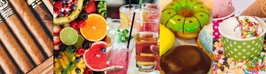 Geschmacksrichtungen für E-Liquids